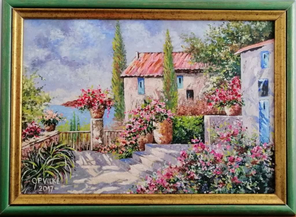Picturi de vara Terasa spre Adriatica