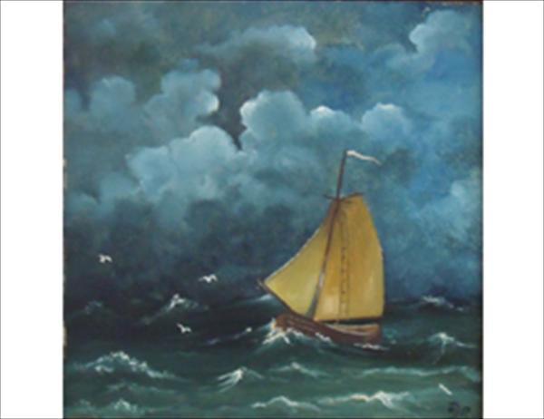 Picturi maritime navale Ambarcatiune pe