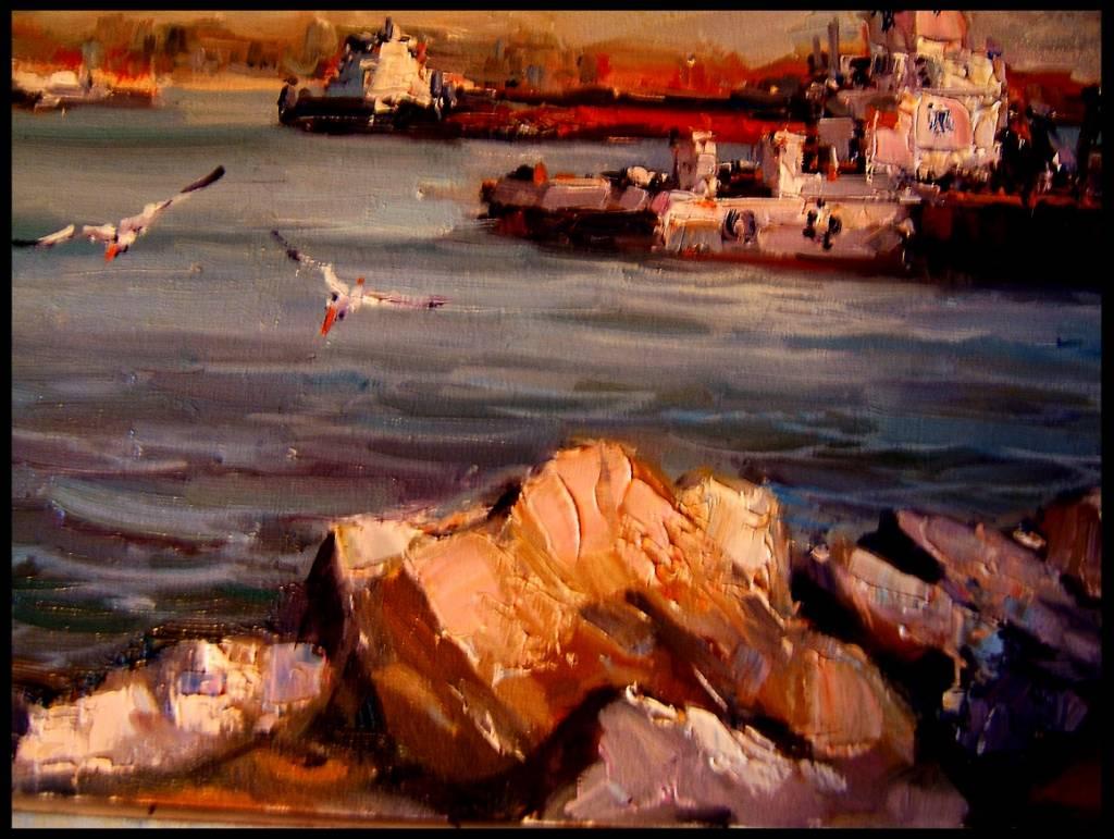 Picturi maritime navale Peisaj tulcean