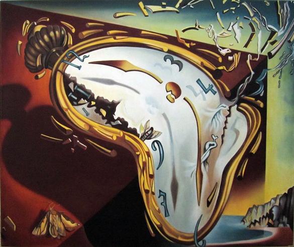Picturi surrealism Clock explosion - Rep