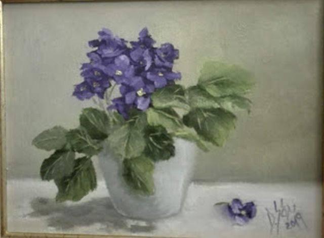 Poza Aranjament cu violete de Parma