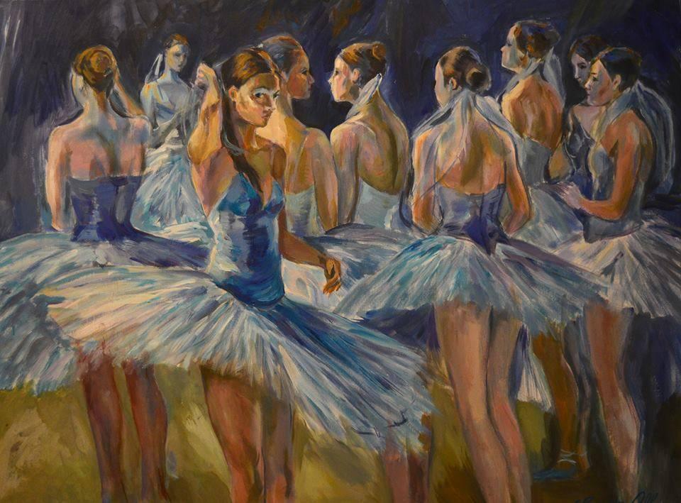 Poza Ballerinas behind the scenes