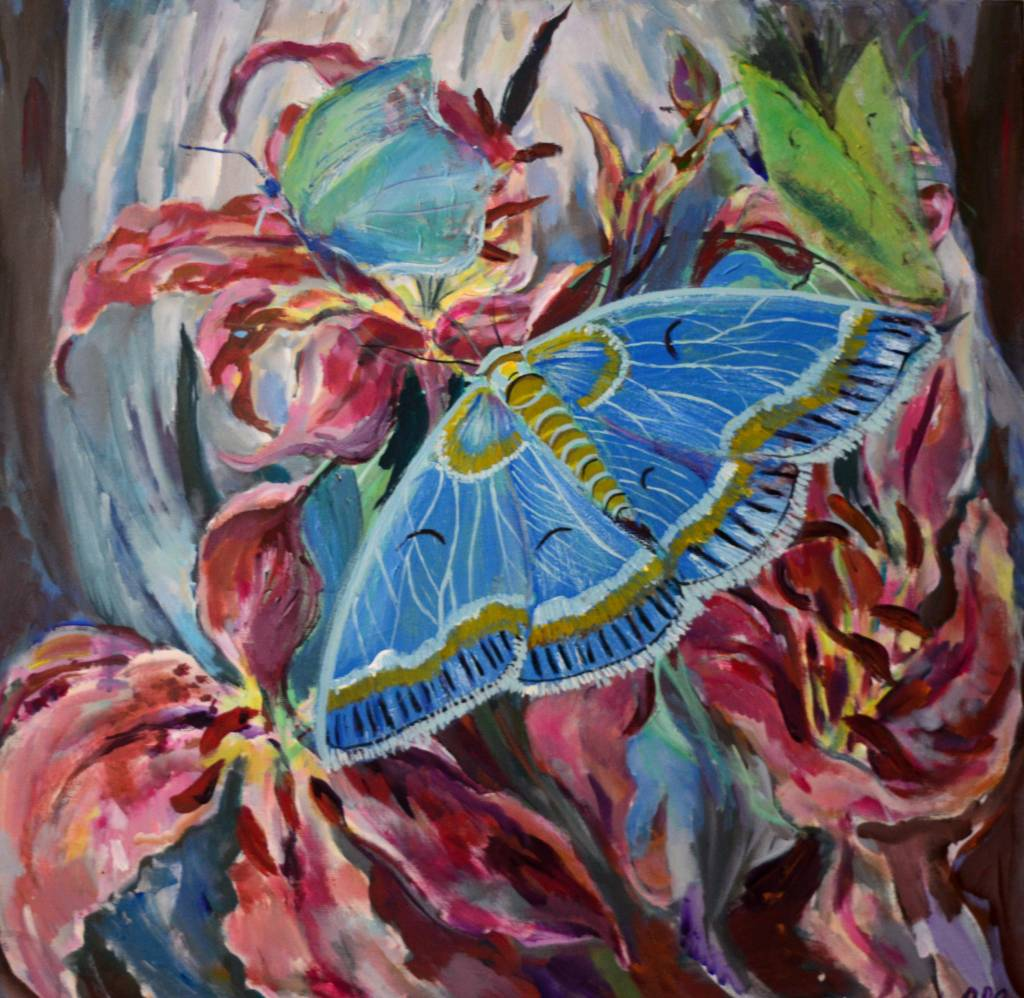 Poza Blue butterfly reflections
