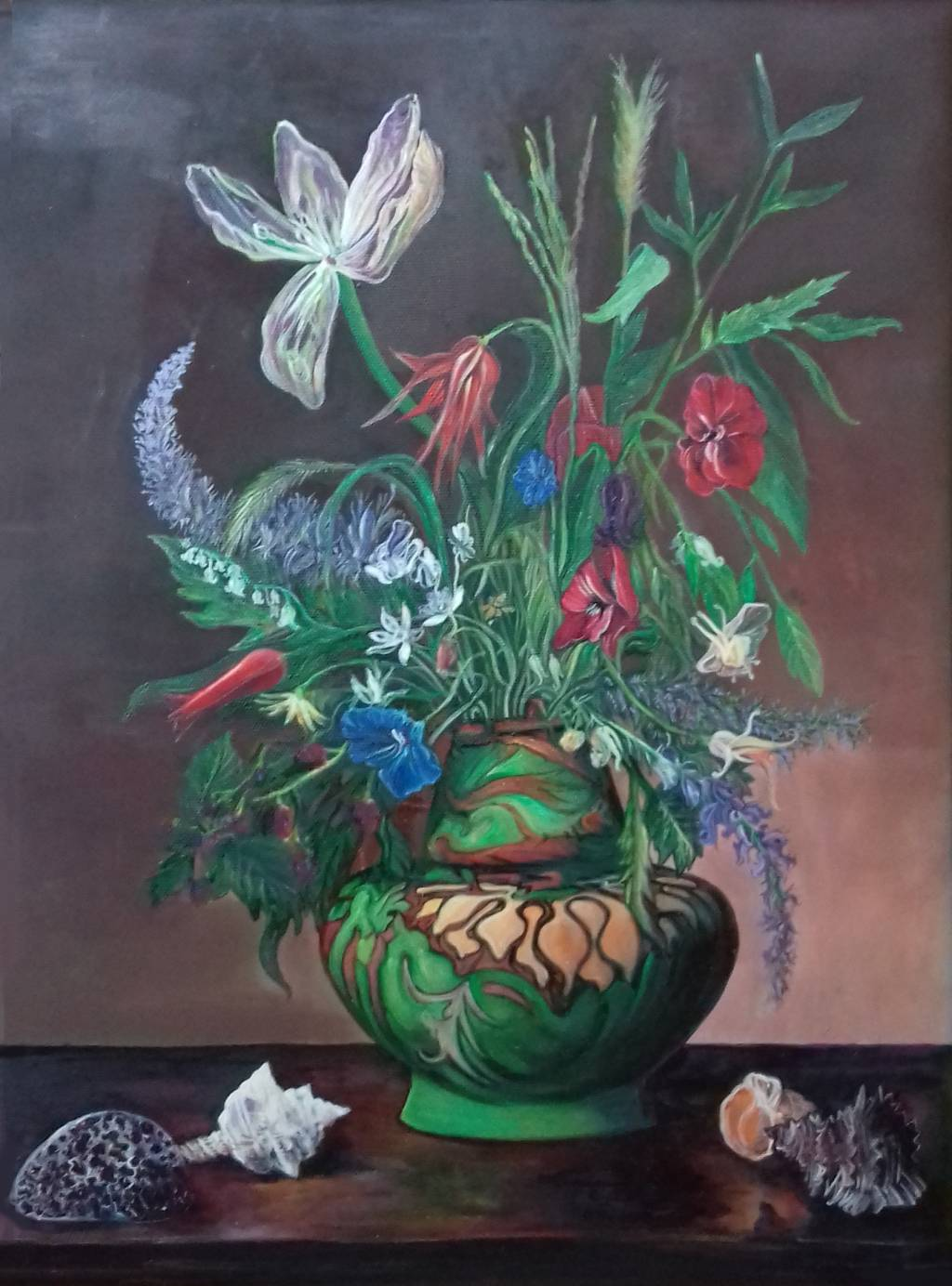 Poza Buchet cu flori in vaza natura stat