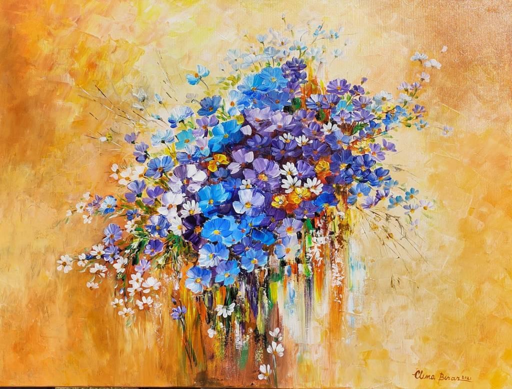 Poza Buchetel cu flori albastre