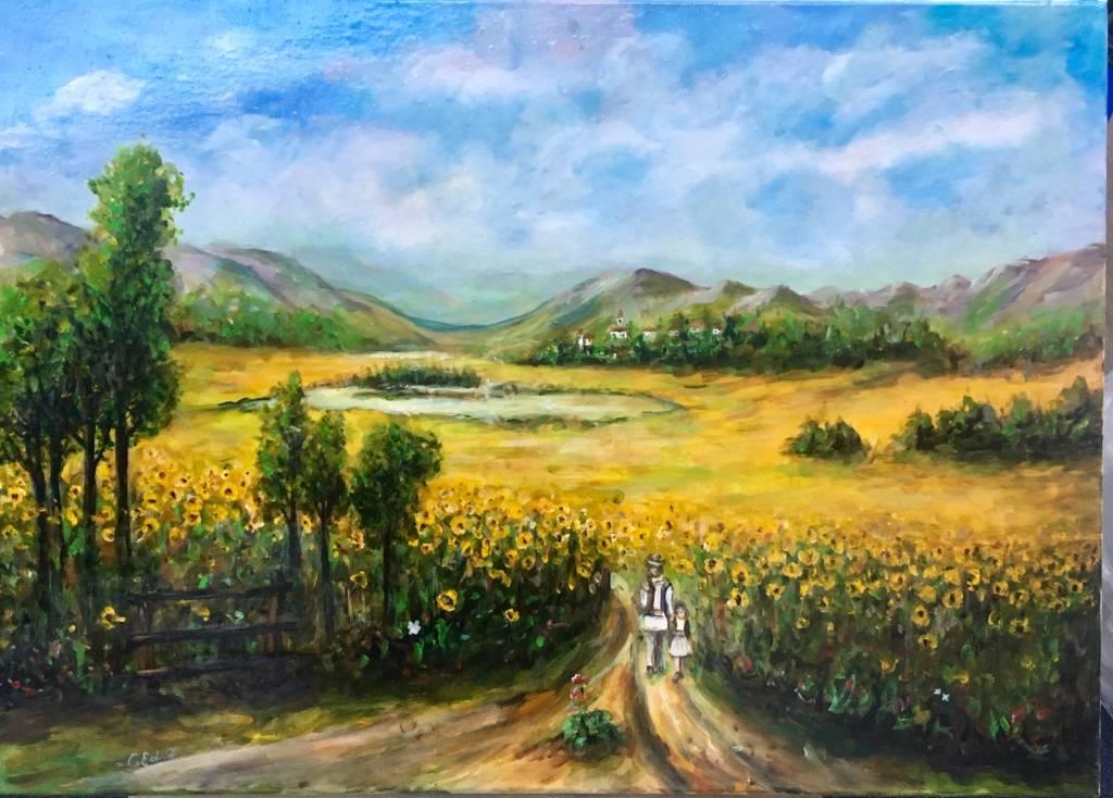 Poza Camp cu floarea soarelui