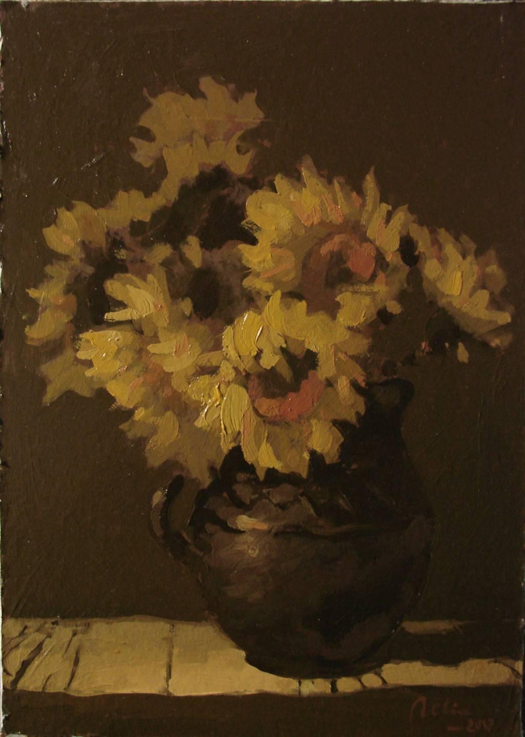 Poza Cana neagra cu floarea soarelui , u