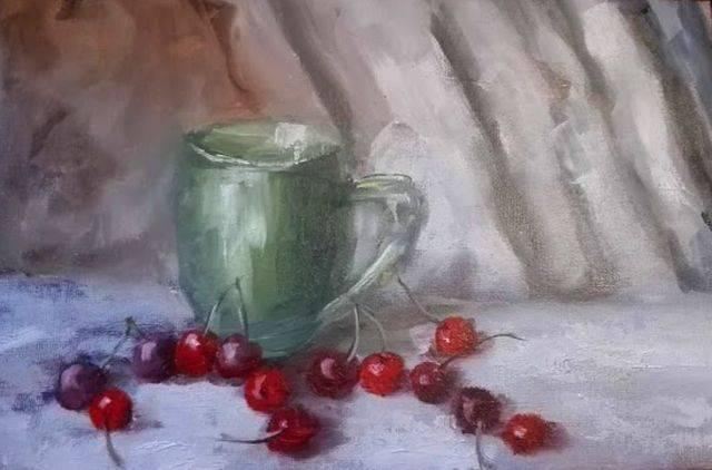 Poza Cana verde cu cirese