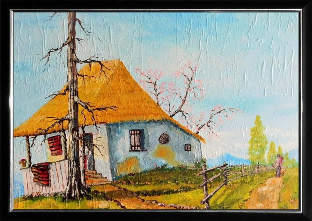 Poza Casa cu acoperis din paie