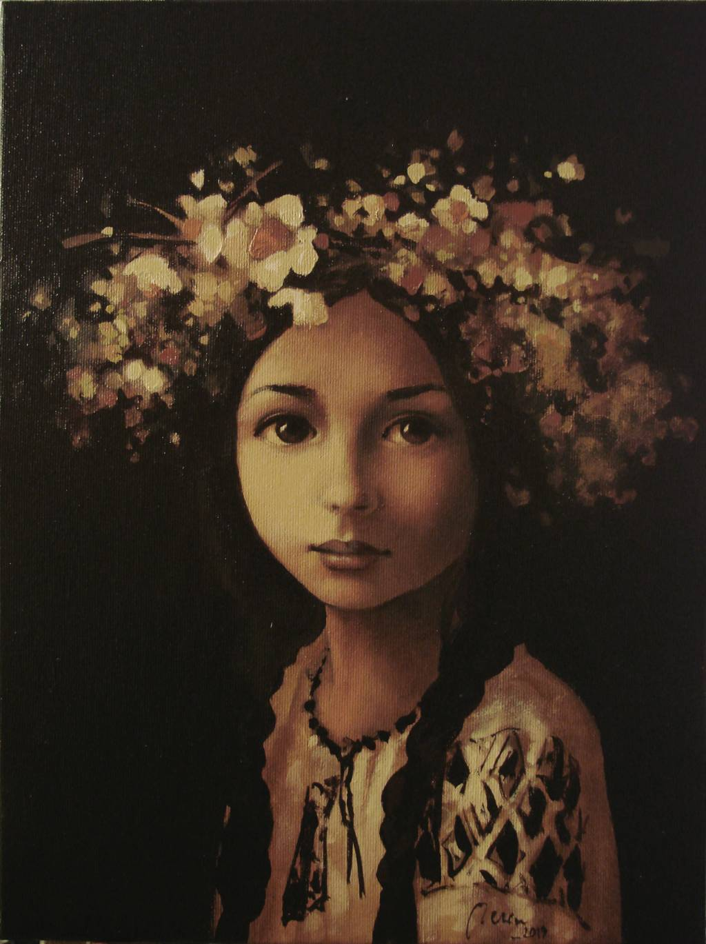Poza Coronita din flori de sanziene