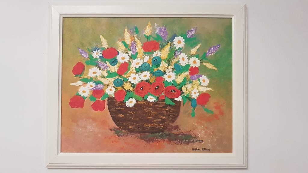 poză cos cu flori