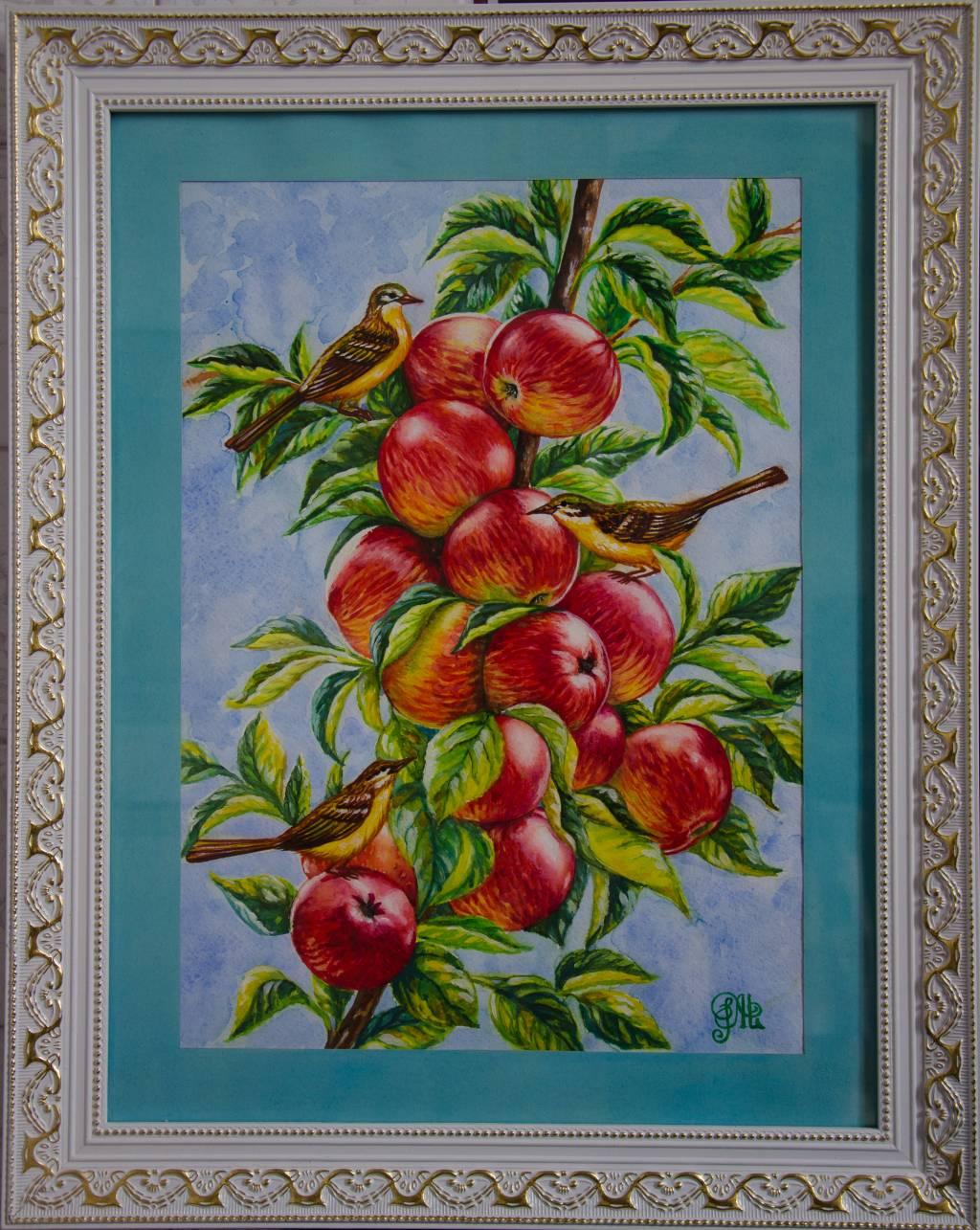 Poza Crenguta cu mere rosii