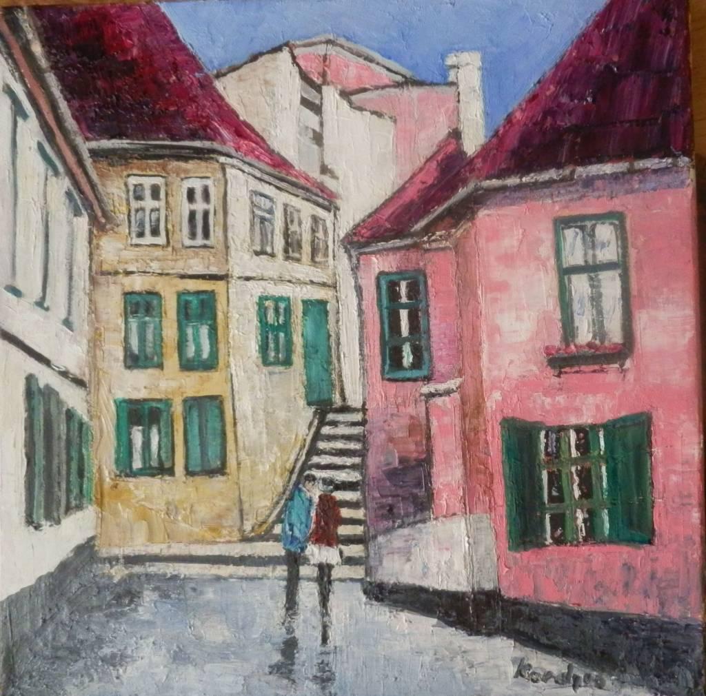 Poza De vorba pe o strada in Sibiu