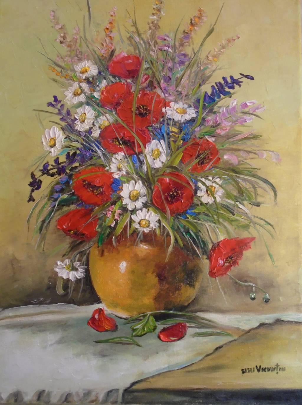 Poza Decor cu flori de camp 2