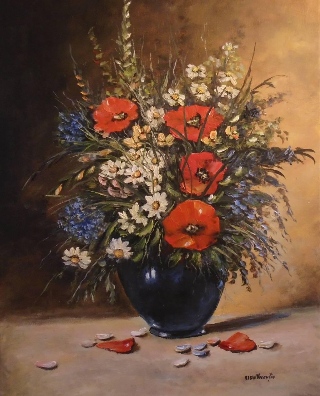 Poza Decor cu flori de camp 4 ....