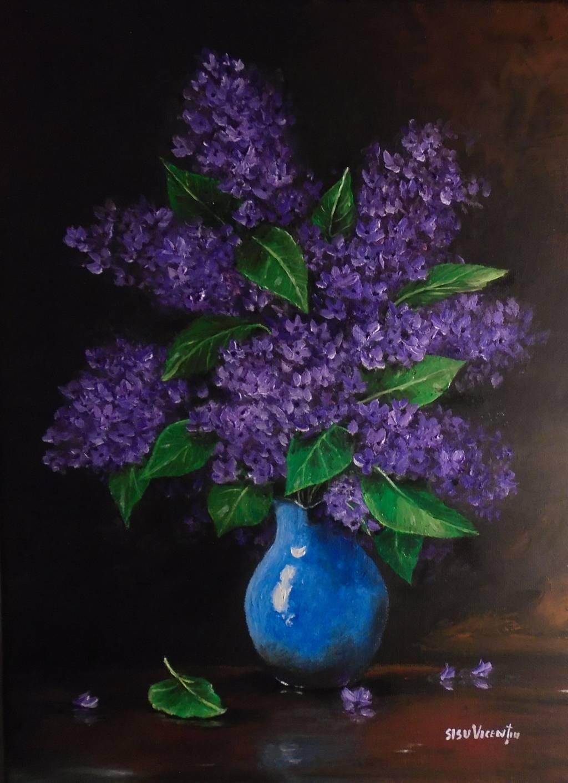 Poza Decor cu flori de liliac ..