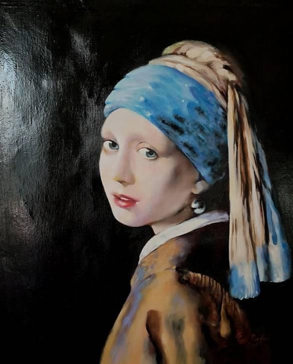 Poza Fata cu cercel cu perla