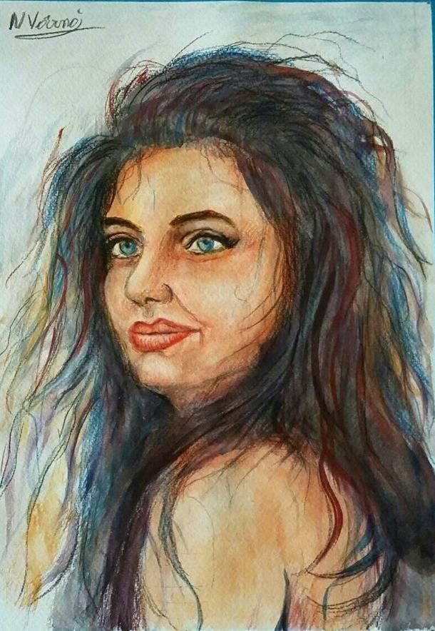Poza Fata cu ochi albastri