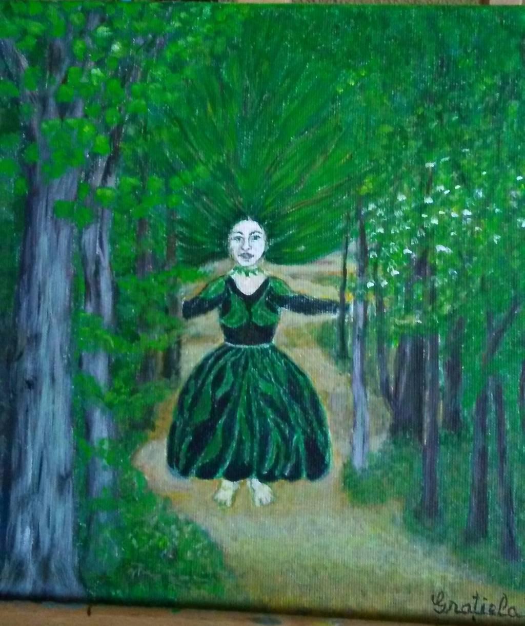Poza Fata cu părul pădure