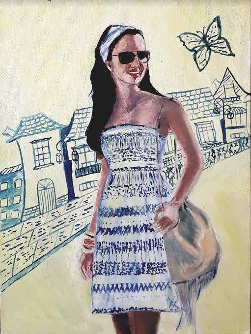 Poza Fata cu rochita