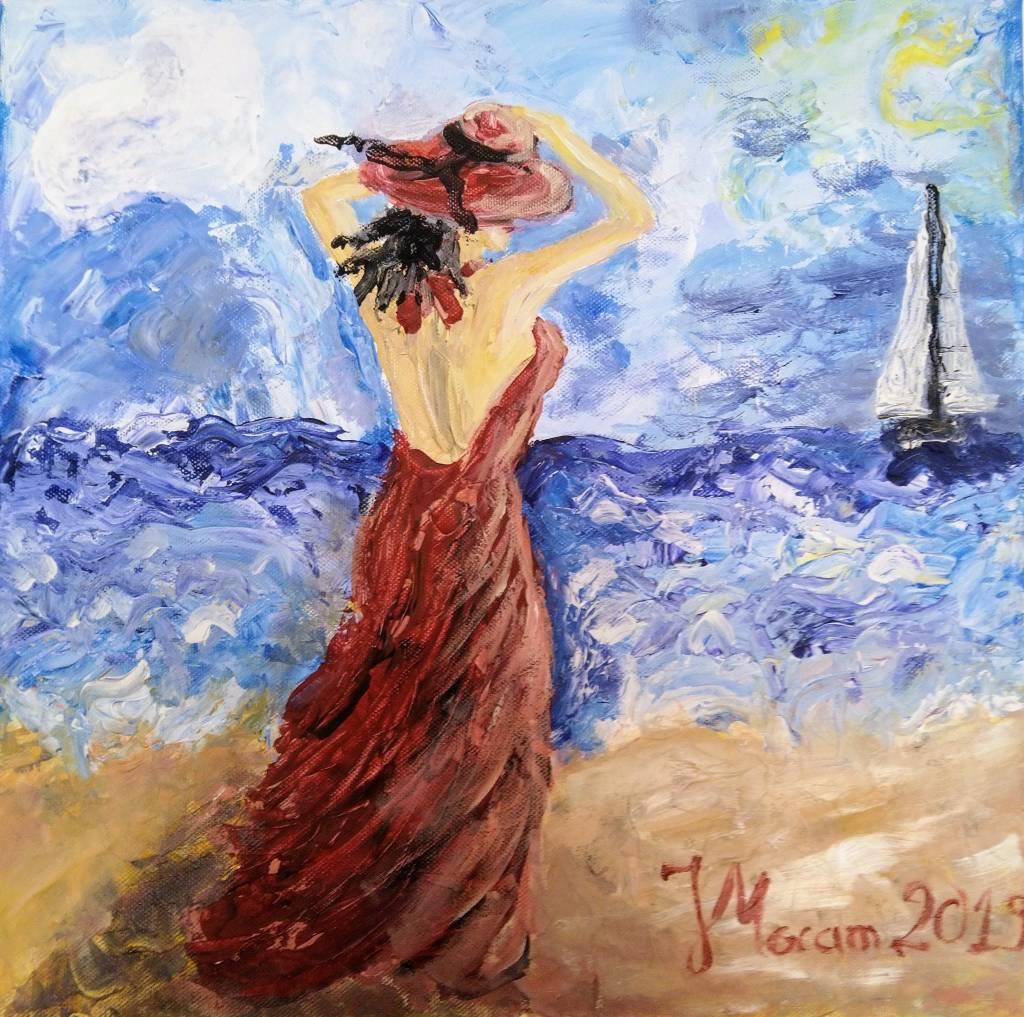 Poza Femeie pe plaja