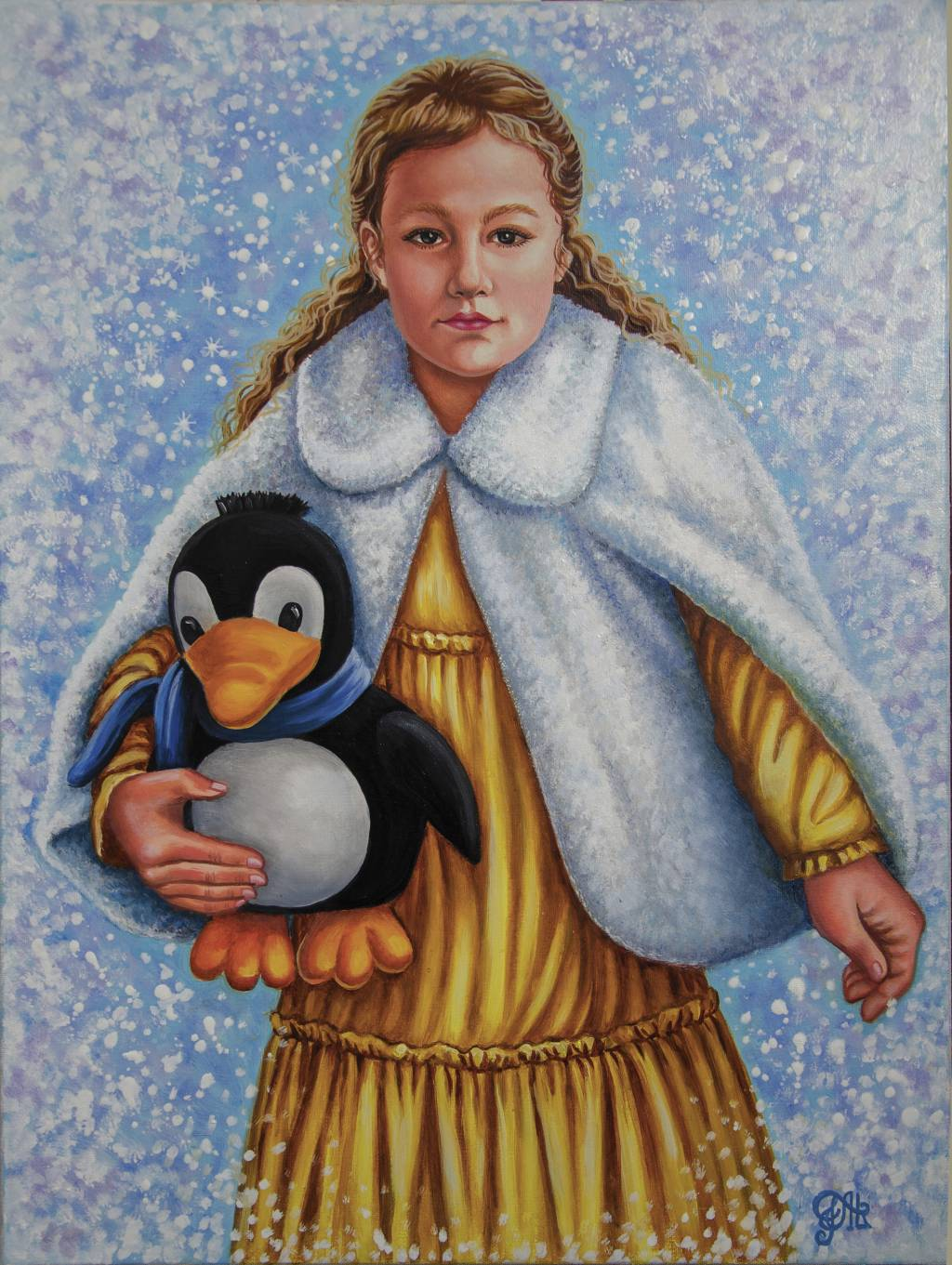 Poza Fetița cu pinguinul