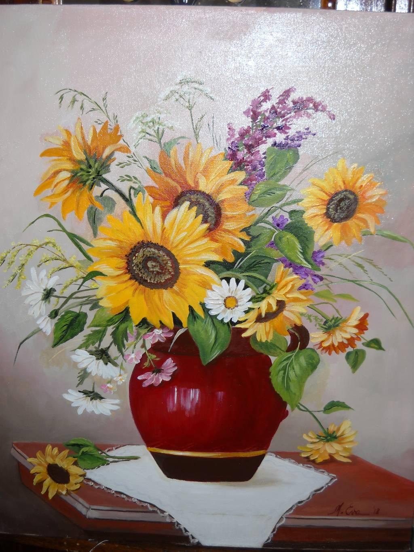 Poza Floarea soarelui cu altele