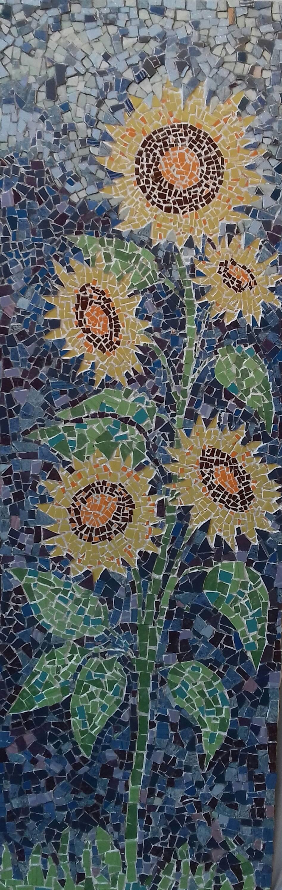 Poza Floarea soarelui ( mozaic)