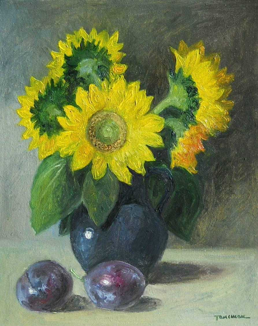 Poza floarea soarelui si prune