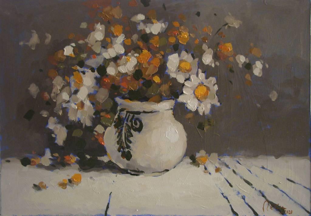 Poza Flori de camp 2,ulei pe carton