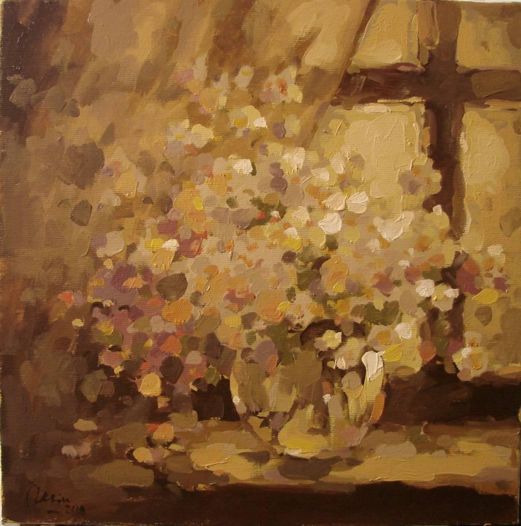 Poza Flori de camp in fereastra