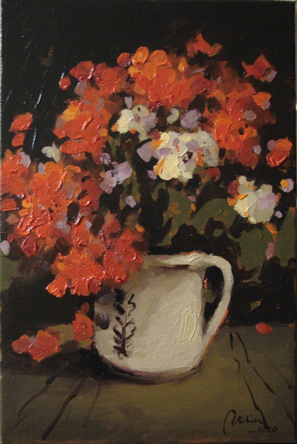 Poza Flori de muscata in cana alba