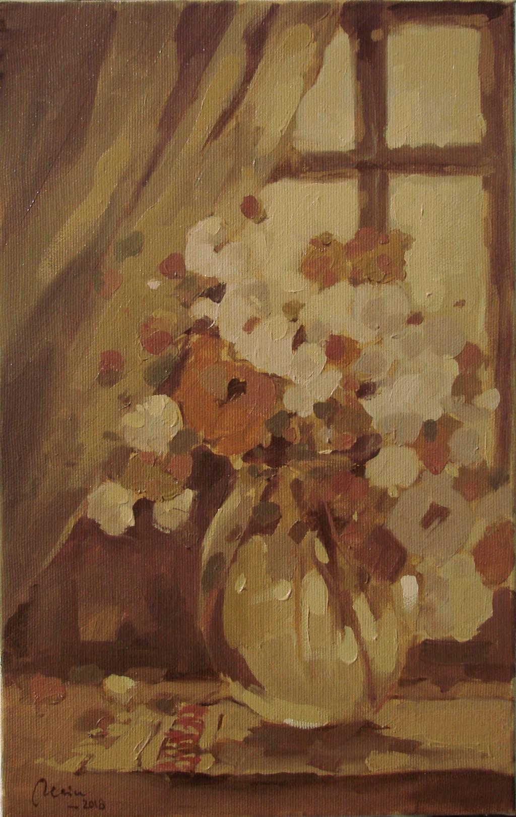 Poza Flori de vara in geam