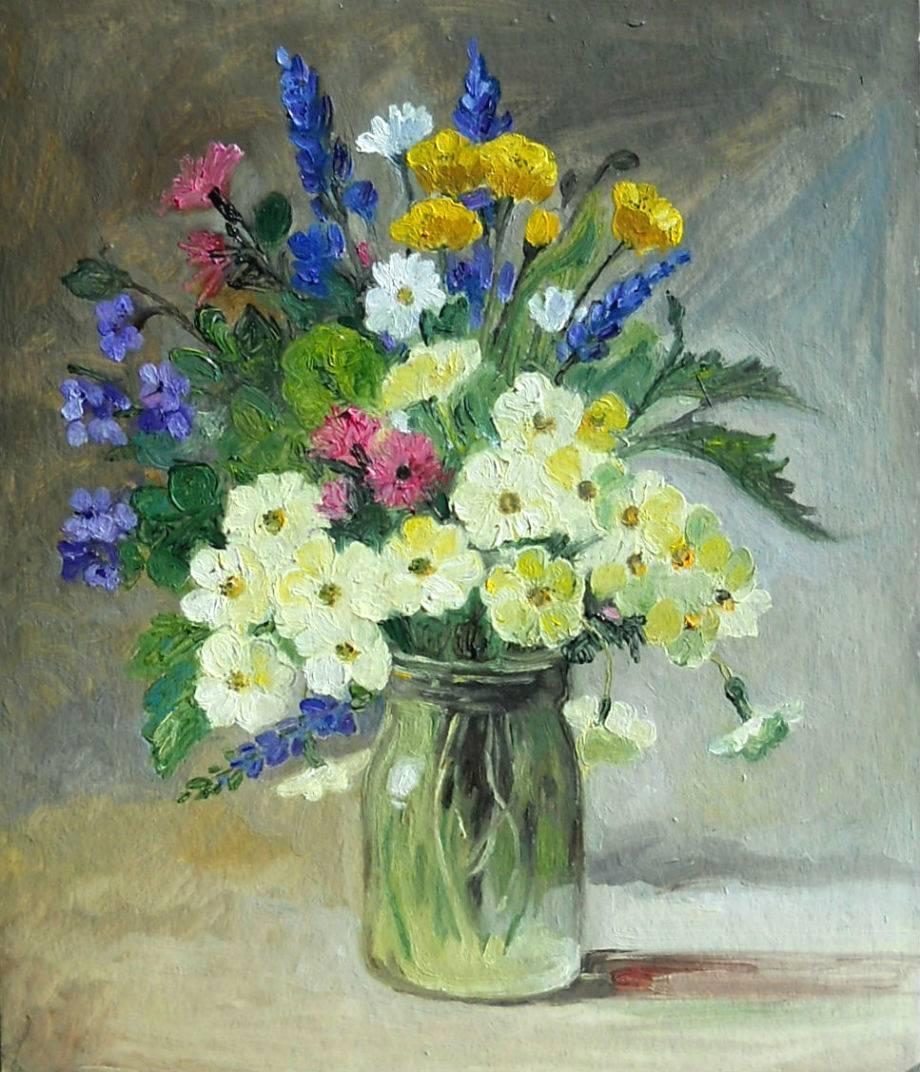 Poza flori in borcanel