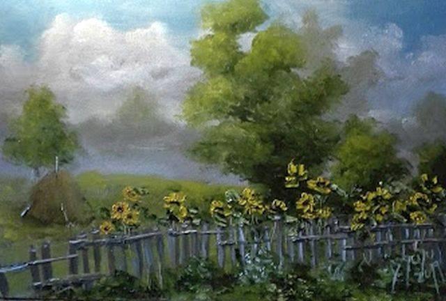 Poza Gardul cu floarea soarelui