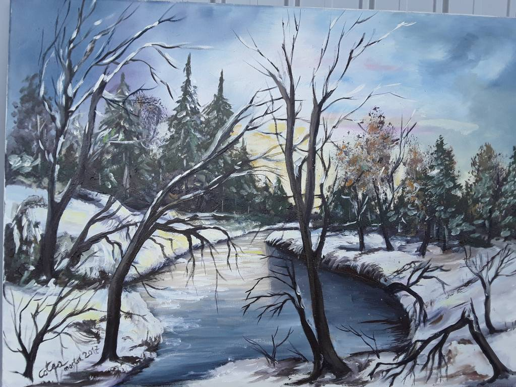 Poza iarnă pe cuvânt