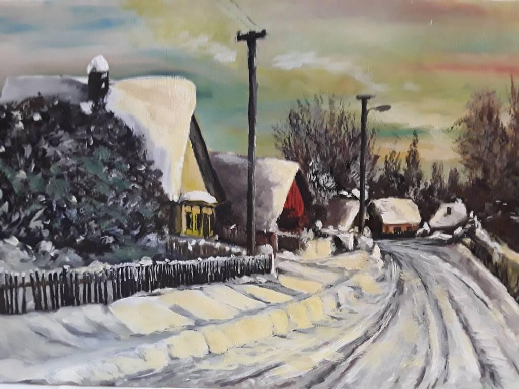 Poza iarna unui sat