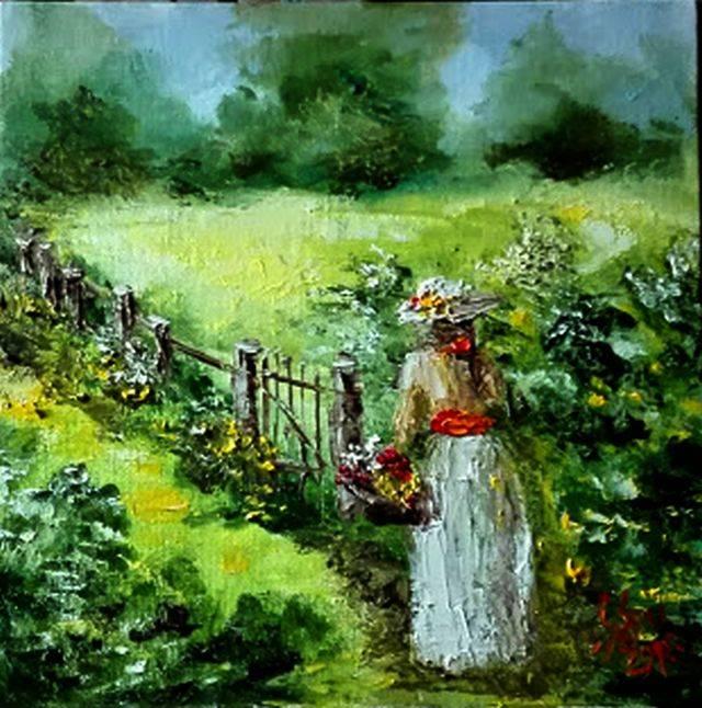 Poza La cules de flori de soc