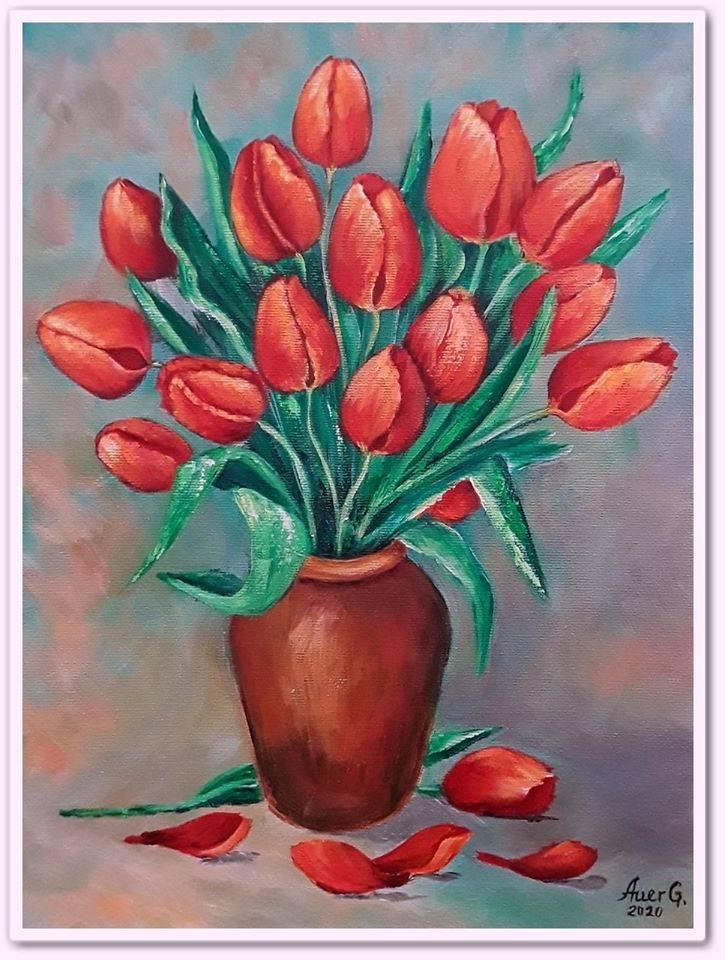 Poza Lalele in vaza
