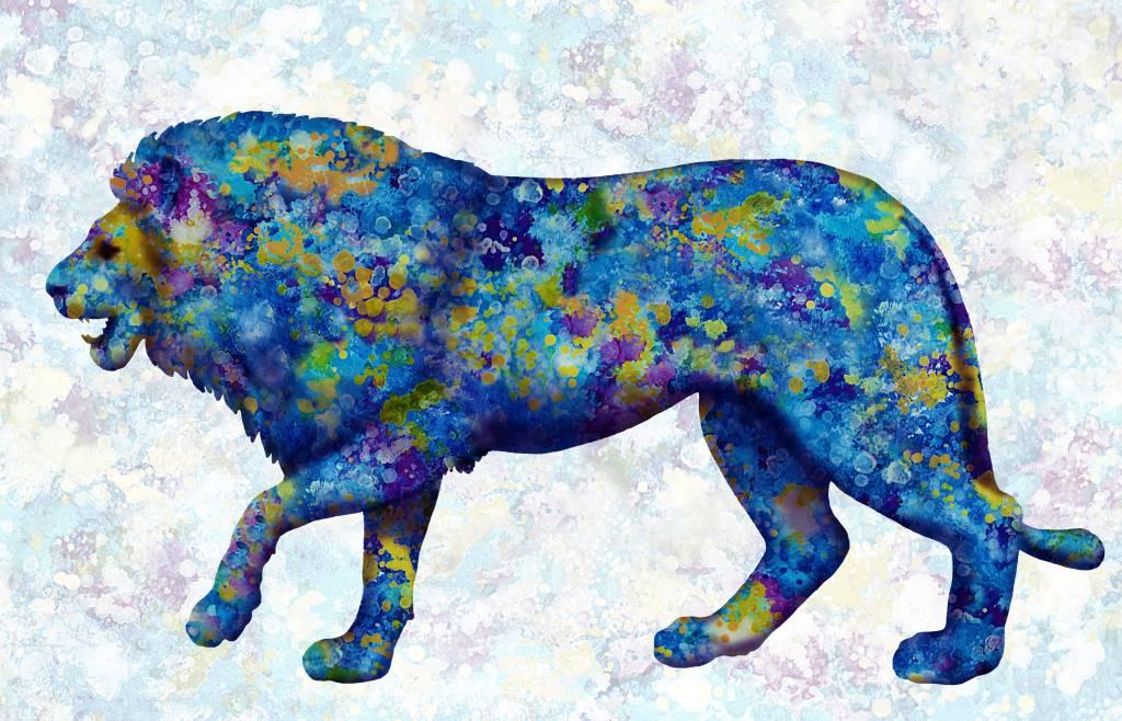 Poza Leu cu pete abstracte