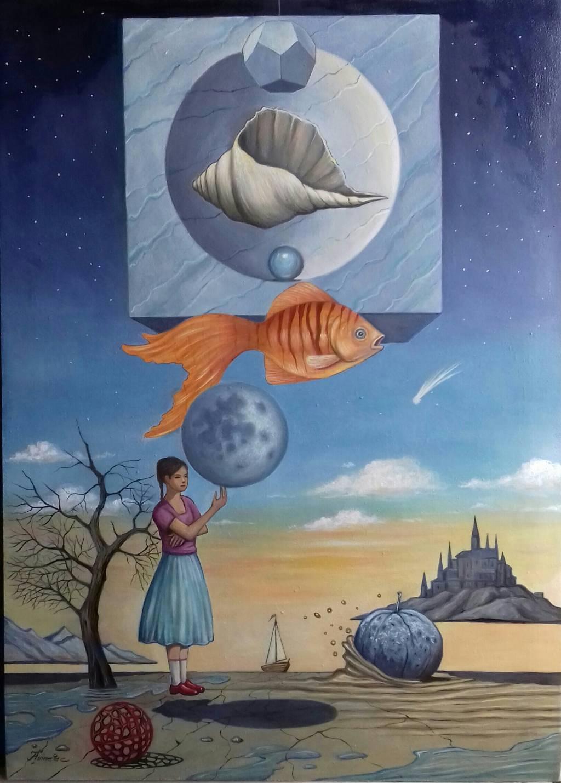"""Poza """" Mărul de piatră şi Luna balon"""