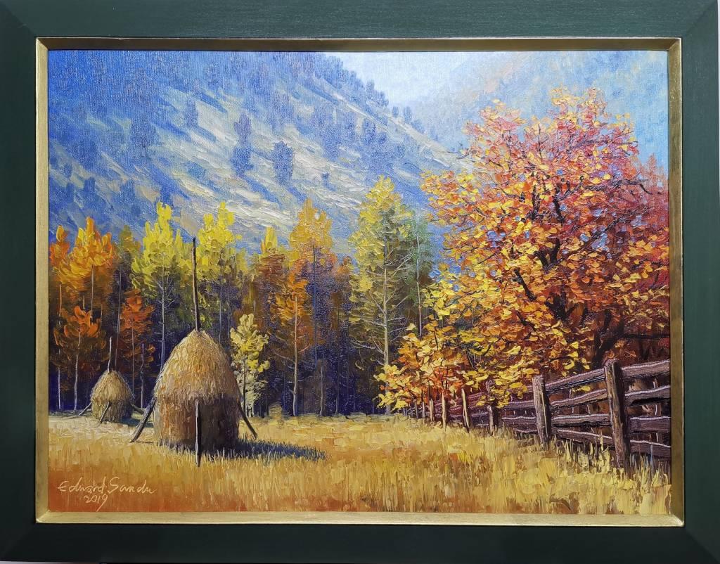 Poza Montana cu cabana 2019 cu rama
