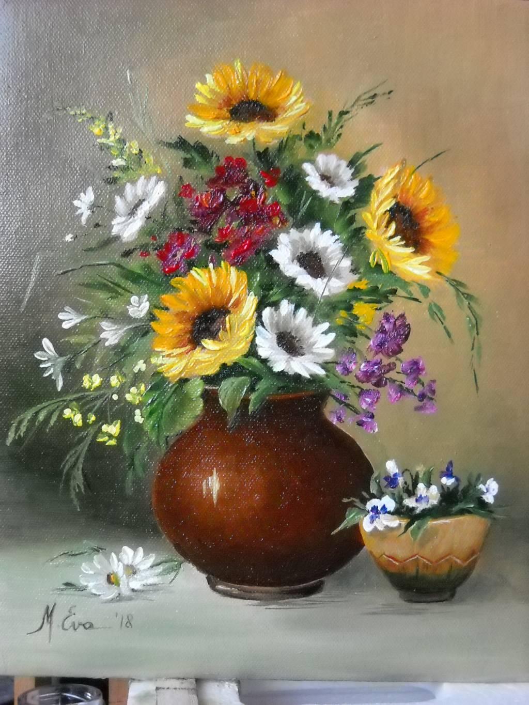Poza O vaza mica cu flori