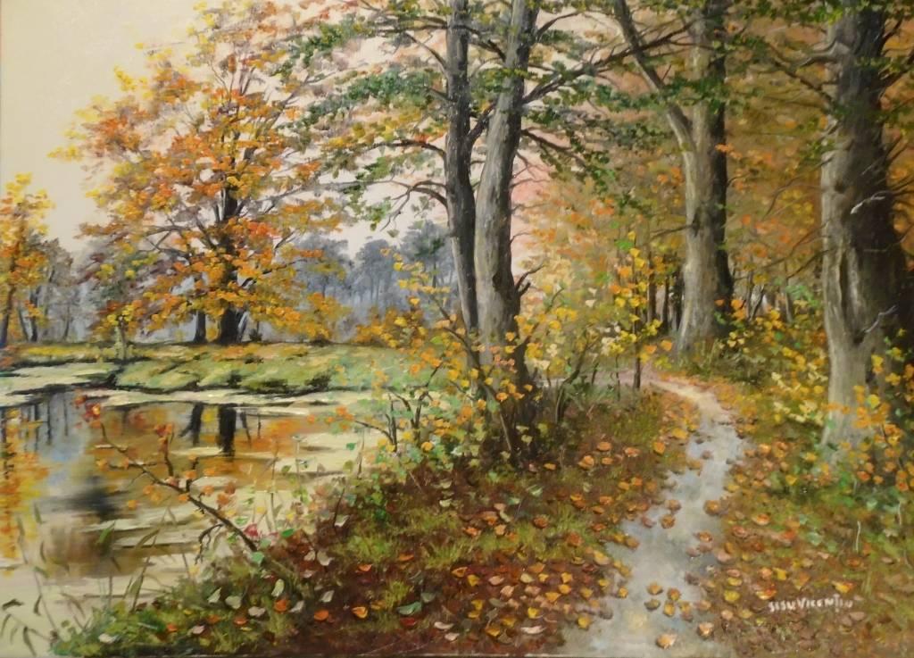 Poza Peisaj de toamna ..Lacul din padure