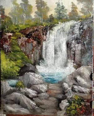 Poza Peisaj la cascada