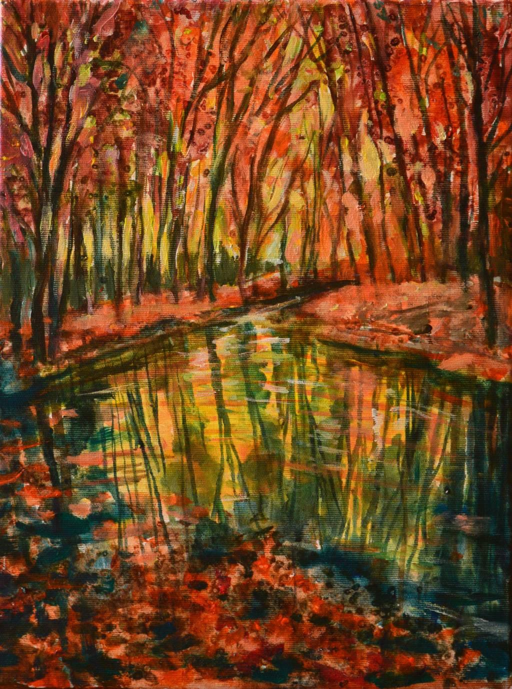 Poza Sunset fall