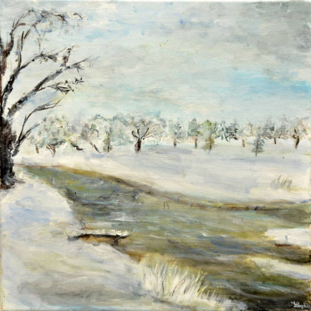 Poza Tablou de iarnă cu râu