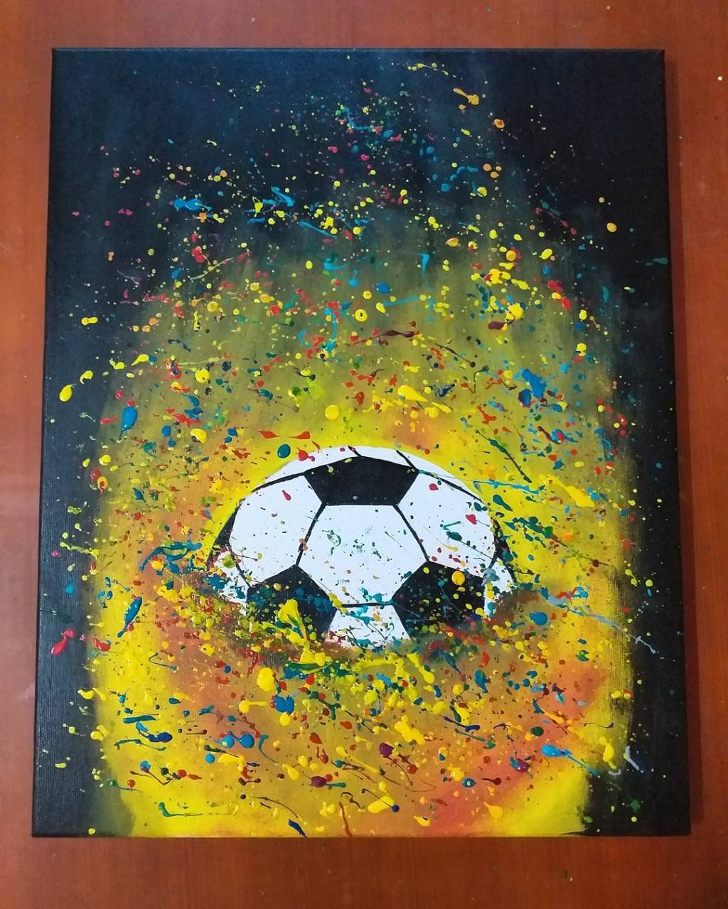 Poza tablou minge abstract