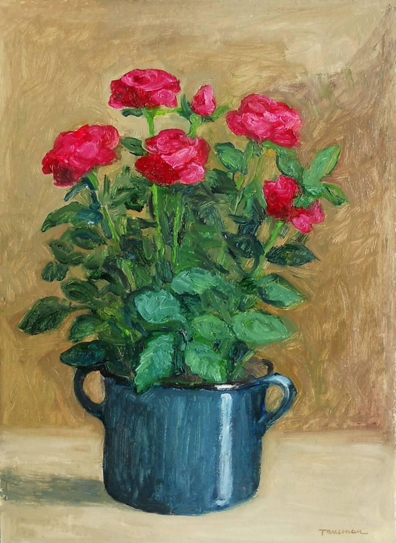 Poza trandafir in vas
