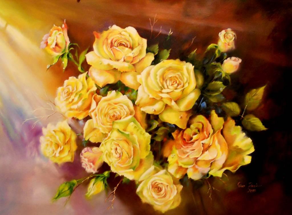 Poza trandafiri galbeni 3